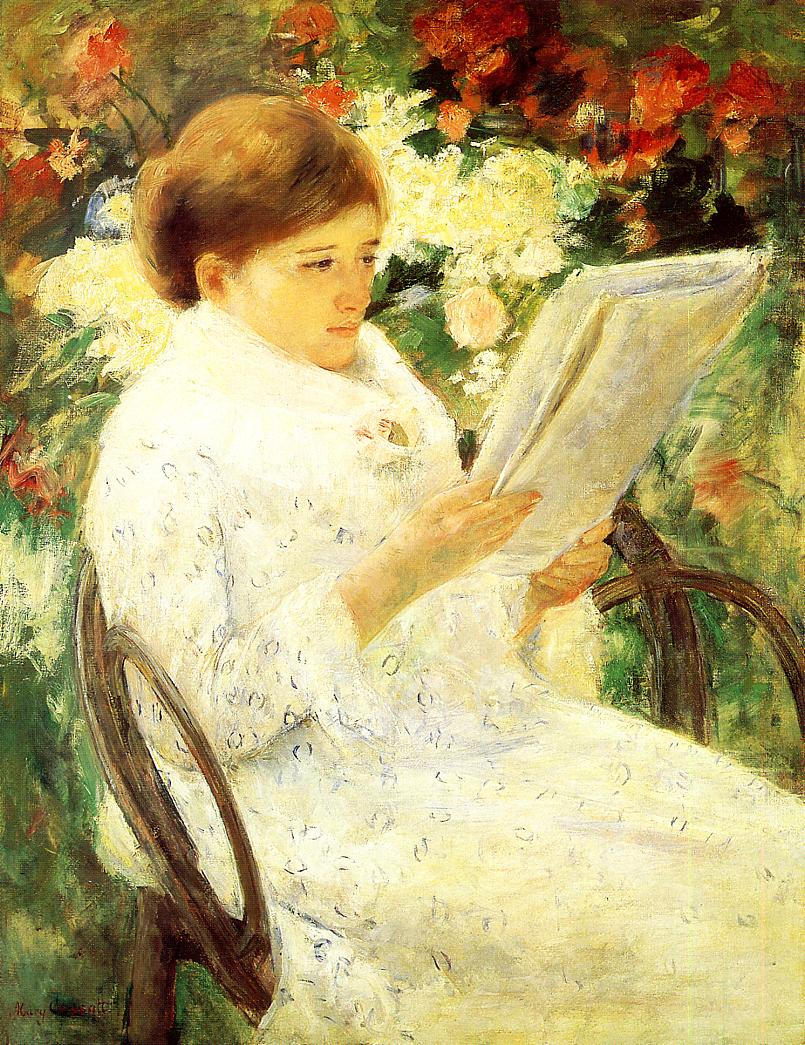 Woman Reading In A Garden 1880 Mary Cassatt
