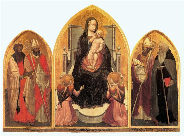 St. Juvenal Triptych, 1422 - Masaccio
