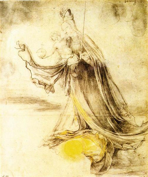 Mary with the Sun below her Feet, c.1520 - Matthias Grünewald