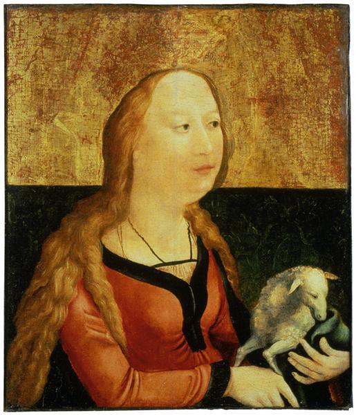 Saint Agnes of Rome (Coburg Panel), c.1500 - Matthias Grünewald