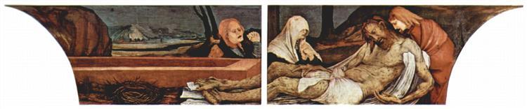 The Entombment (detail from the Isenheim Altarpiece), c.1512 - c.1515 - Matthias Grünewald