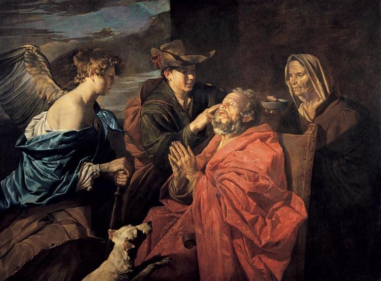 Healing of Tobit - Matthias Stom