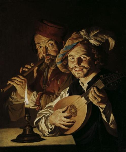 The Lutenist and Flautist, c.1640 - Matthias Stom