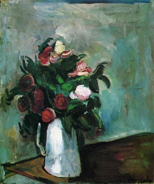 Peonies in a Vase, 1909 - 1910 - Морис де Вламинк