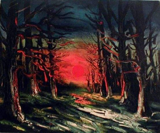 Sunset in the Forest of Senoches - Морис де Вламинк