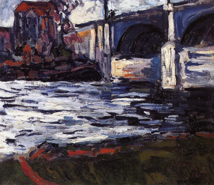 The Seine and the Chatou Bridge, 1906 - Maurice de Vlaminck