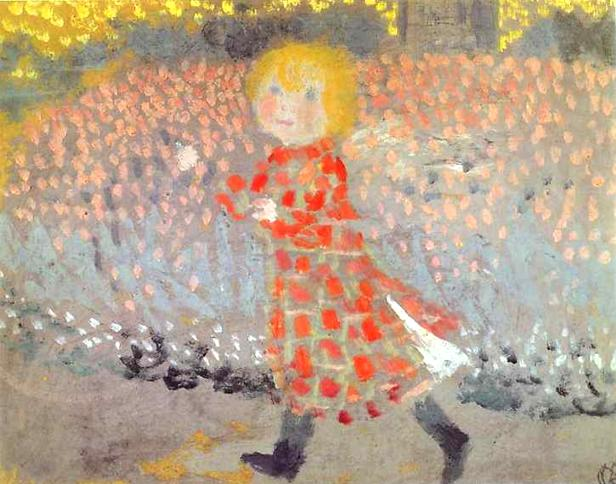 Child in an Apron or Little Girl in a Red Dress, c.1889 - Maurice Denis