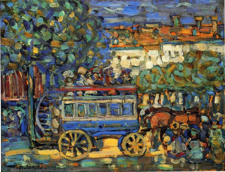 Paris Omnibus, c.1907 - Морис Прендергаст
