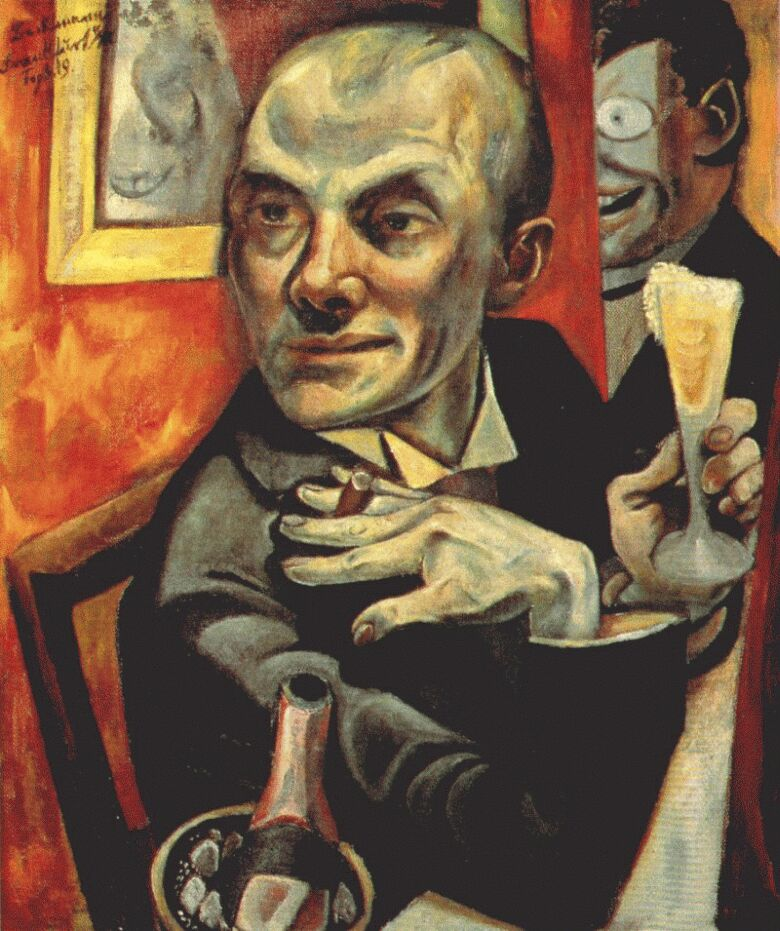 self portrait with champagne glass 1919 max beckmann. Black Bedroom Furniture Sets. Home Design Ideas