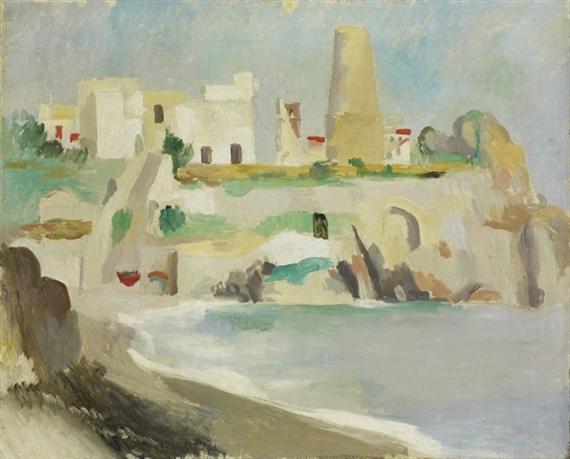 Lipari, Portinenti with Windmill Tower, 1925 - Max Gubler