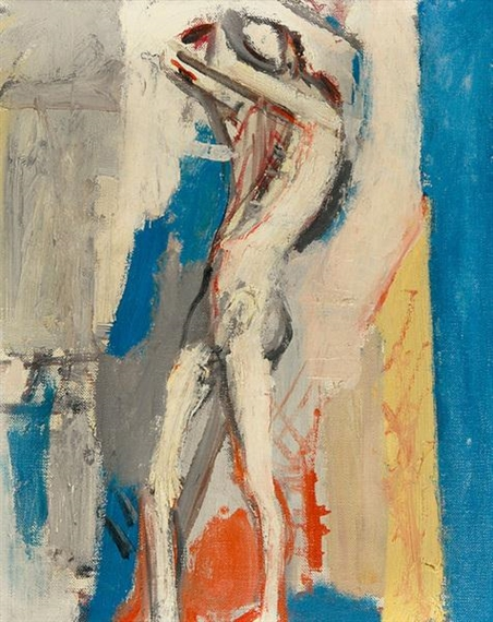Standing Male Nude, Unterengstringen, 1956 - Max Gubler
