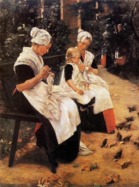 Amsterdam Orphans in the Garden, 1885 - Max Liebermann
