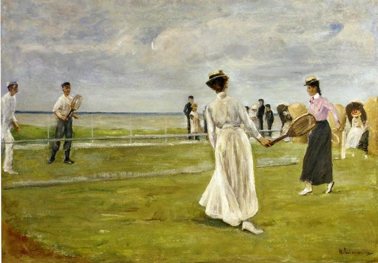 Tennis Game by the Sea, 1901 - Max Liebermann