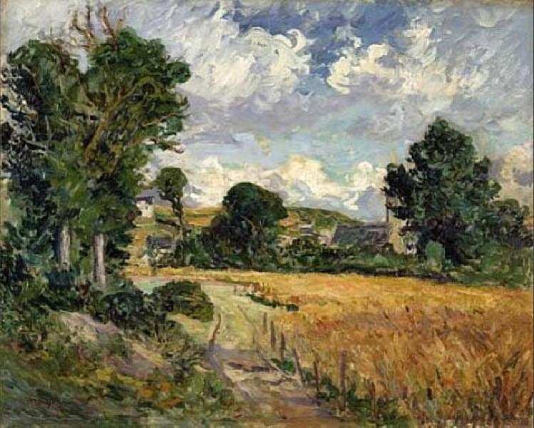 Cornfield in the Valley of Saint-Jean-du-Doigt - Maxime Maufra