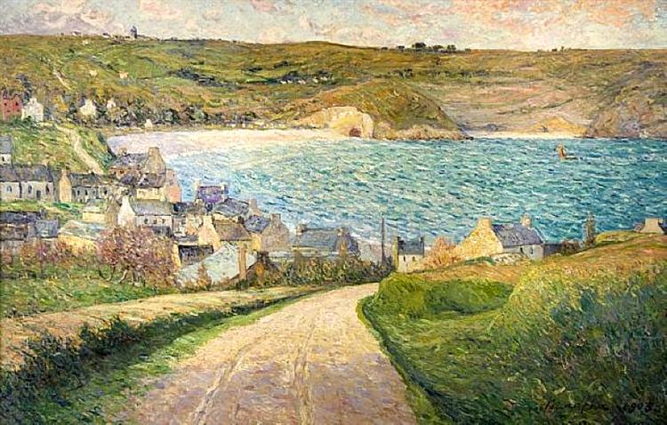 The Beach at Morgat - Maxime Maufra