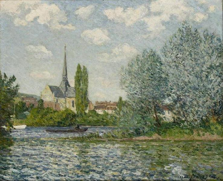The church at Little Andelys - Maxime Maufra