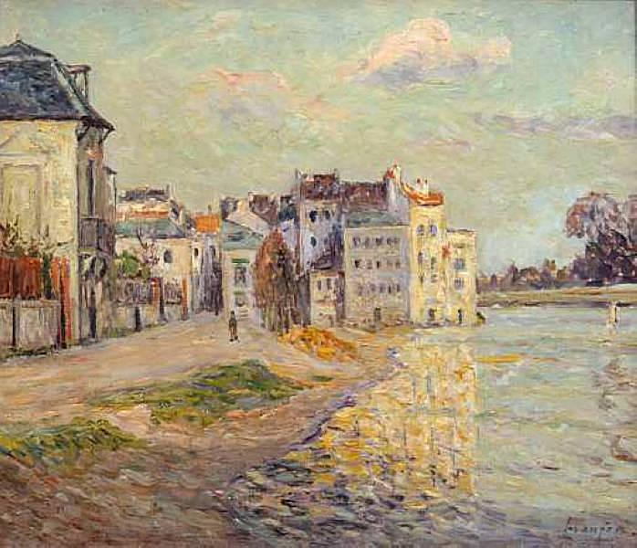 The Embankment of Lagny under Flood Water, 1908 - Maxime Maufra