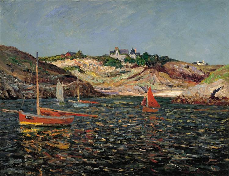 The Heart of the Port of Goulphar, Belle-Ile en Mer, 1909 - Maxime Maufra