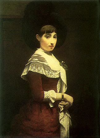 Portrait of a young Jewish woman, 1886 - Meijer de Haan
