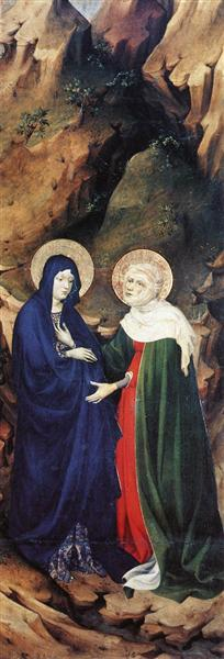 The Visitation (from Altar of Philip the Bold), 1399 - Melchior Broederlam