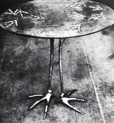 Table with Bird's Feet, 1939 - Meret Oppenheim