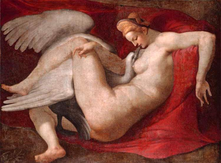 Leda and the Swan - Michelangelo