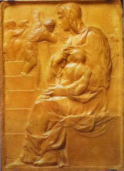 Мадонна на сходах, c.1490 - Мікеланджело