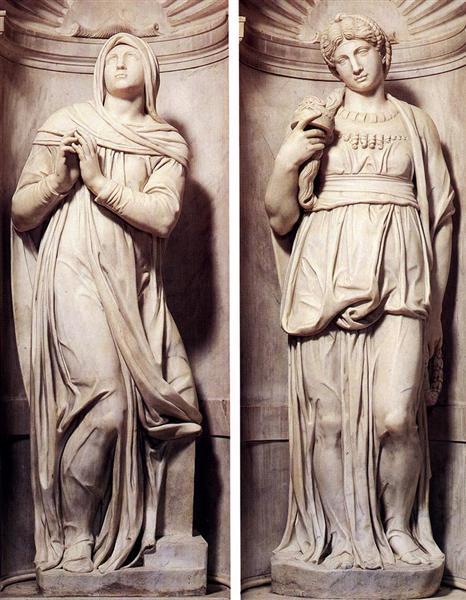 Rachel and Leah, 1545 - Michelangelo