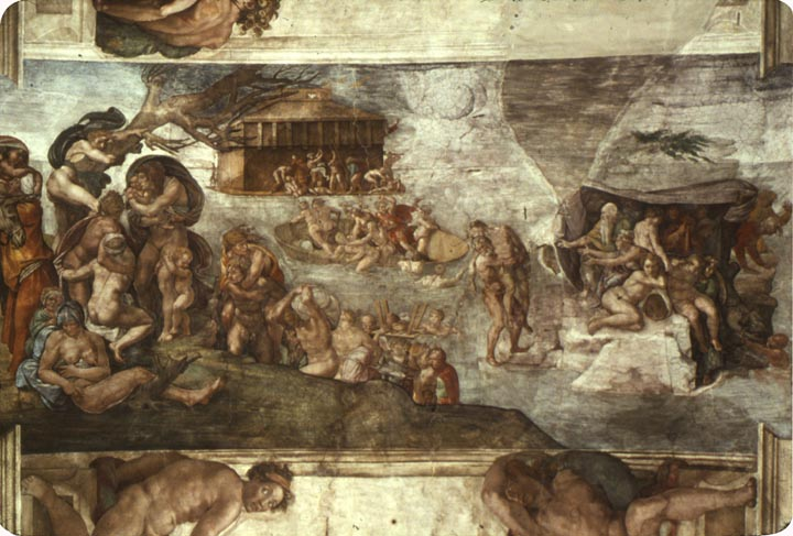 Sistine Chapel Ceiling: The Flood, 1508 - 1512 - Michelangelo