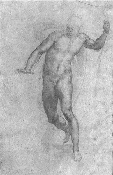 Study for a risen Christ, 1533 - Michelangelo