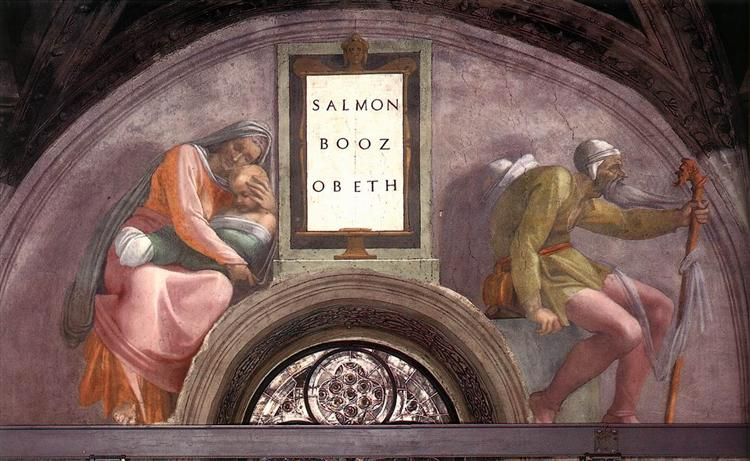 The Ancestors of Christ: Boaz, Obed, 1512 - Michelangelo