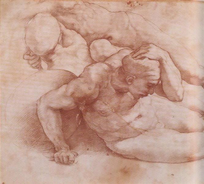 Two Figures - Michelangelo