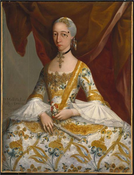 Doña María de la Luz Padilla y (Gómez de) Cervantes, 1760 - Miguel Cabrera