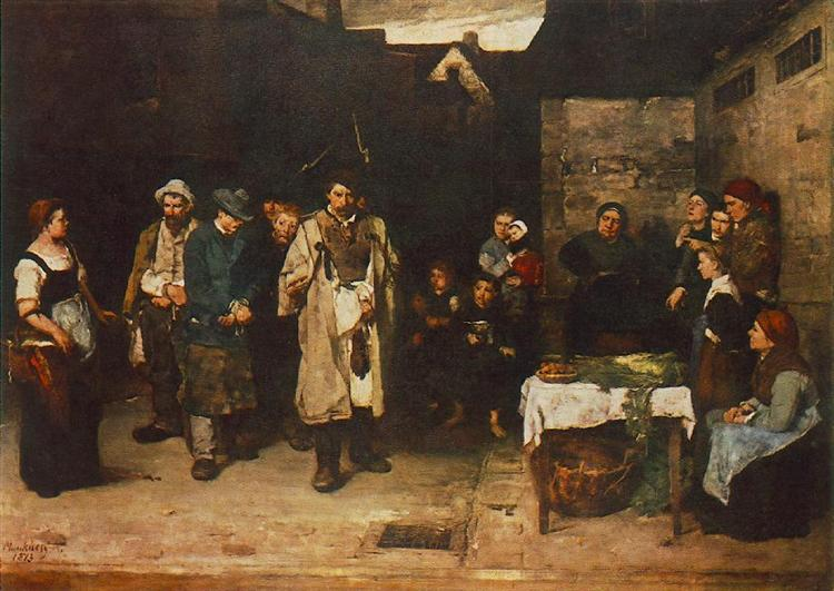 Drifters in the Night, 1873 - Mihaly Munkacsy