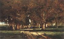 Line of Trees - Mihály Munkácsy