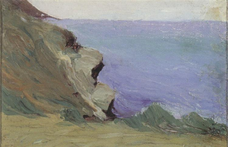 Cliff by the sea, 1905 - Mikalojus Konstantinas Ciurlionis