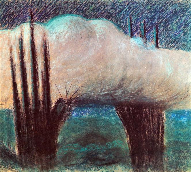 Evening, 1904 - Mikalojus Konstantinas Ciurlionis