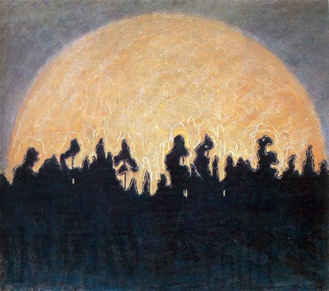 The sun, 1907 - Mikalojus Konstantinas Čiurlionis