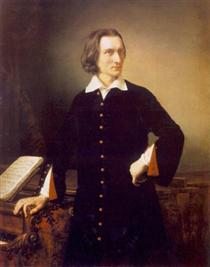 Portrait of Franz Liszt - Miklós Barabás