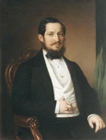 Portrait of János Matta - Miklós Barabás