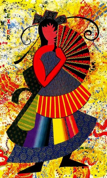 Alexandra Exter (My Fan is Half a Circle), 1994 - Miriam Schapiro