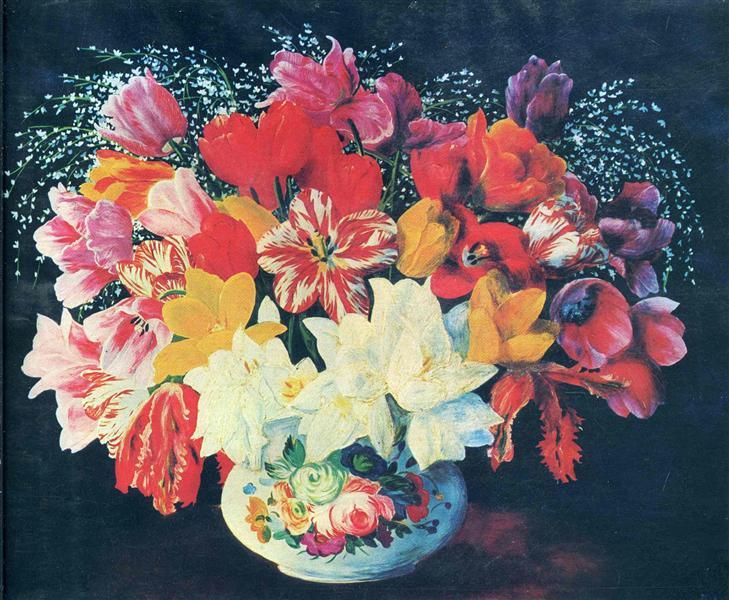 Большой букет тюльпанов, 1952 - Моис Кислинг