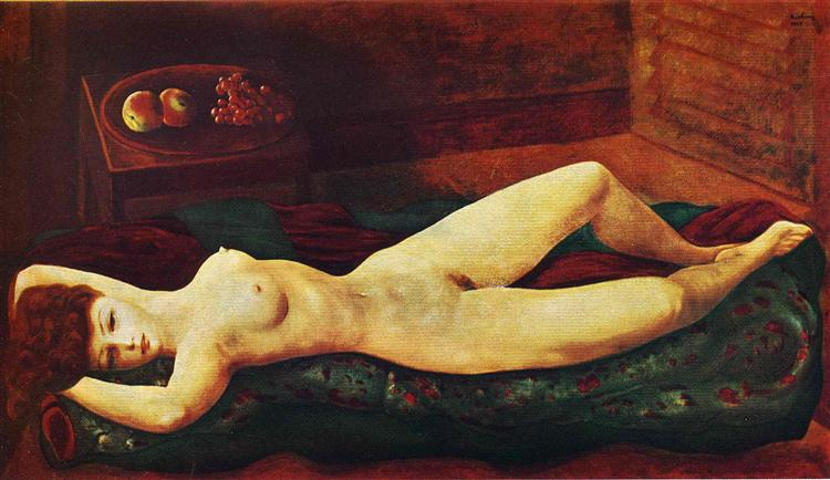 Large red nude, 1949 - Moise Kisling