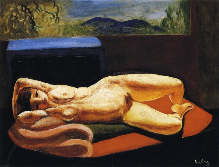 Reclining nude, 1917 - Moise Kisling