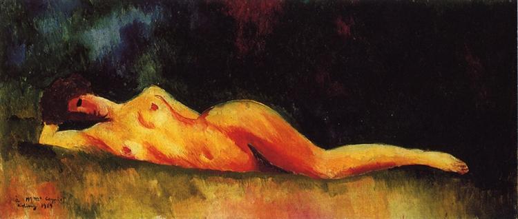 Reclining nude, 1919 - Moise Kisling