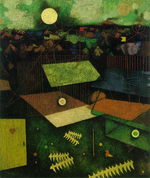 For the Fallen - Left-hand panel: The Traps, 1956 - Mordecai Ardon