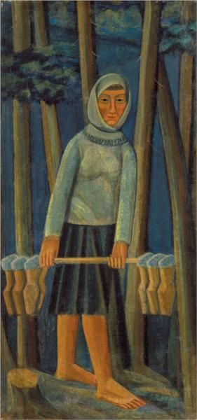 Milkmaid, c.1915 - Mykhailo Boychuk