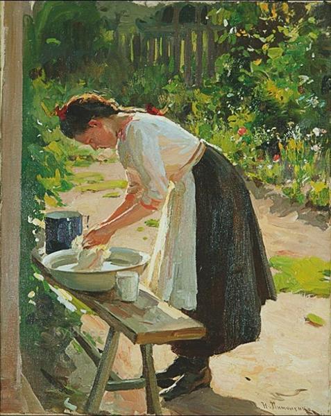 Laundry - Mykola Pymonenko