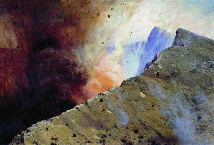 Eruption of volcano, 1898 - Николай  Ярошенко