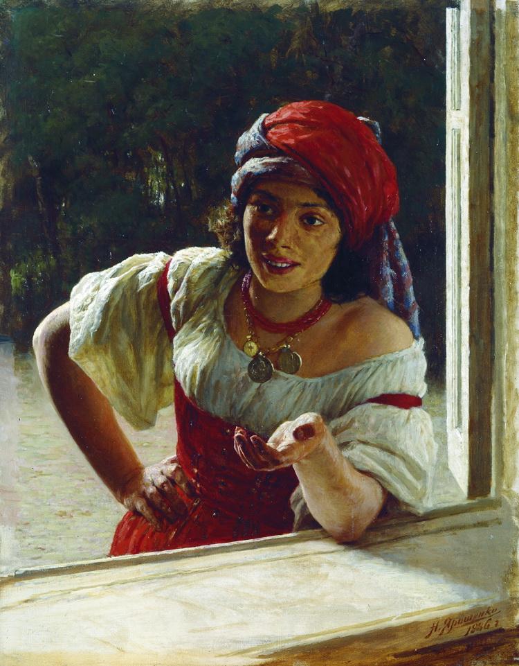 Gypsy Woman, 1886 - Mykola Yaroshenko - WikiArt.org